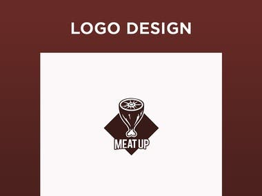 MEAT UP Logo Design