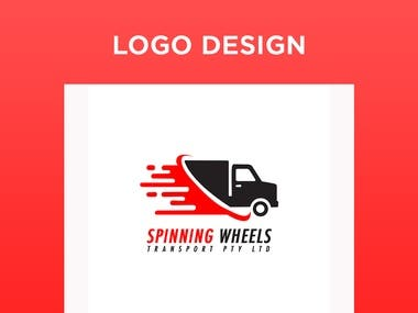 Spinning Wheels Logo design