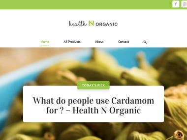 Health Tips & Facts Blog - Wordpress Development