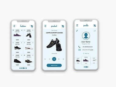 online shoes shops application