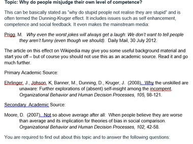 Why do people misjudge their own level of competence?