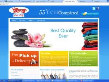 Website design & development  for laundry company