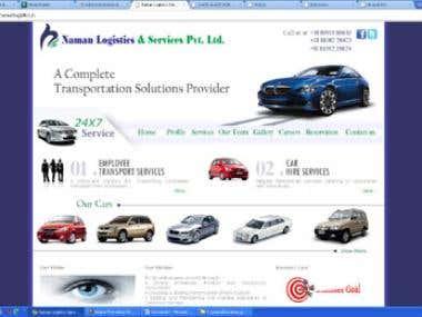 Website design & development for Logistics company
