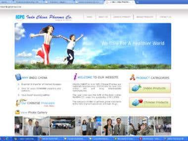 Website design & development for Pharma company