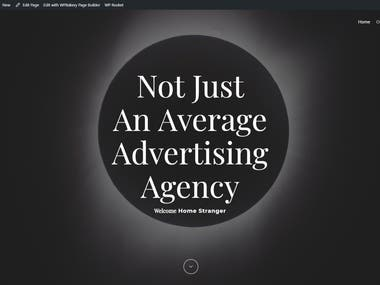 Eclipse advertising agency website design