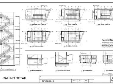 Shop Drawings for Stairs