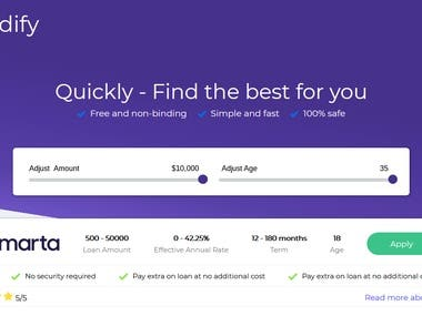 Kredify loan website