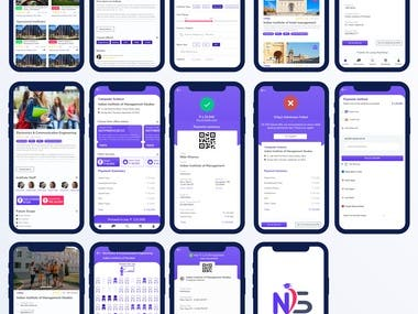 Education app mockup design