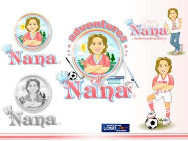 Character/mascot design done for Adventures of Nana