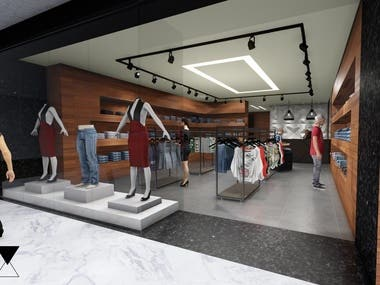 Proposal for Clothes Store in Mall Gallery