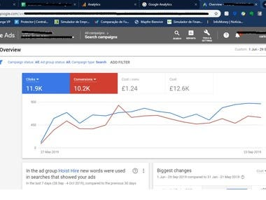 AdWords for a variety of clients