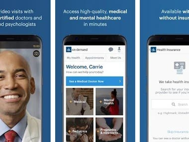Doctor On Demand(Android, Java)