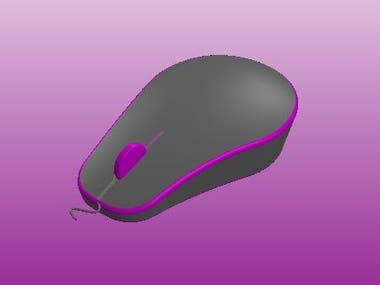 Mouse, Surface modelling with solidworks