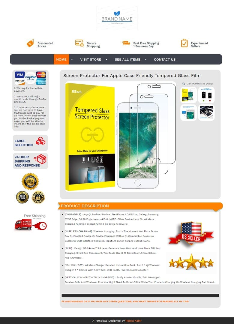 Ebay Product Listing With Html Template Freelancer