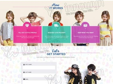 The Children Clothes Order Site