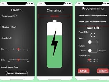 Ionic IOT device app
