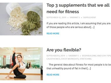 1000 word blog writing on health & fitness with media