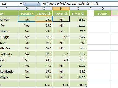 Salary Data sheet.