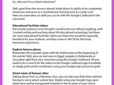 10 Ideas For Google Cardboard In The Classroom