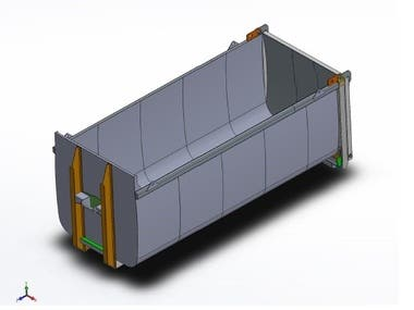 28 Cubic Meters Container Ampliroll
