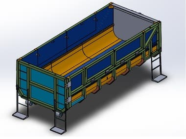 30 Cubic Meters Container Ampliroll