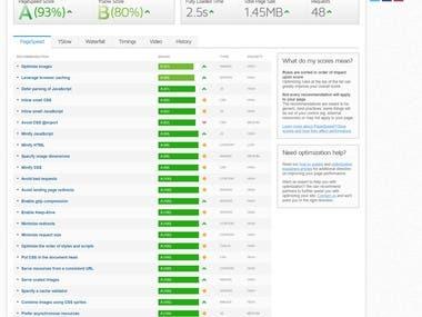 Portfolio Website Page Speed