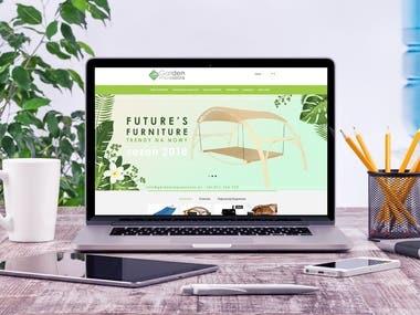 Website-online shop for furniture manufacturer