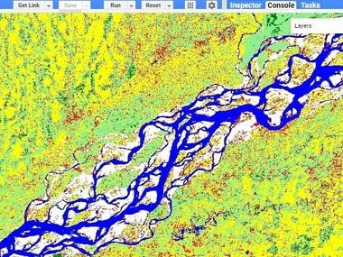 Landuse and Landcover mapping using Google Earth Engine