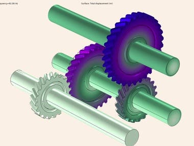 Geared rotor eigenfrequency analysis