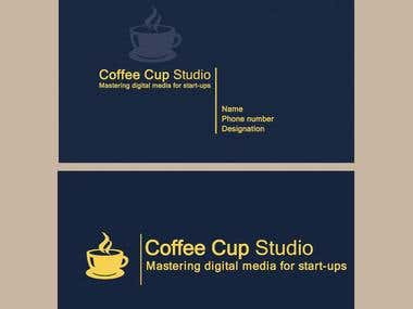 "Business card for ""The Coffee Cup Studio"""