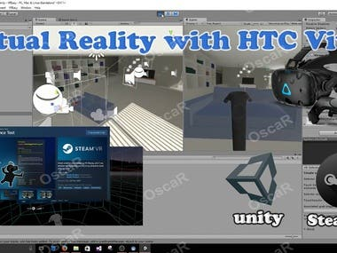 Virtual Reality with HTC vive for Experiences.