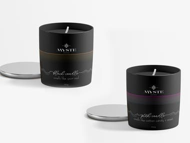 Candle Label Design