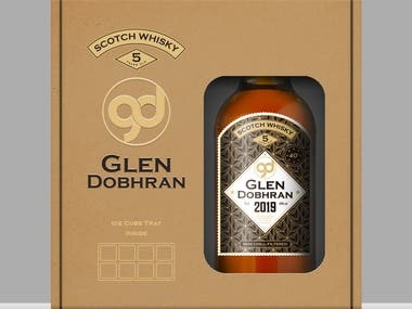 Whisky Label, Logo and Box design