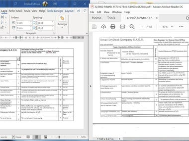 PDF Table to Word