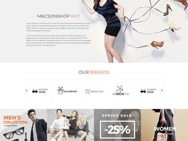 Online Shop / E-Commerce Website