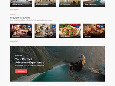 Hotels and Restaurant Booking