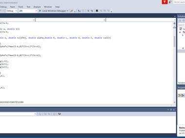 Fourie Transformer C++ program