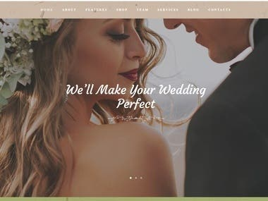Wedding Website(Laravel+React.js)