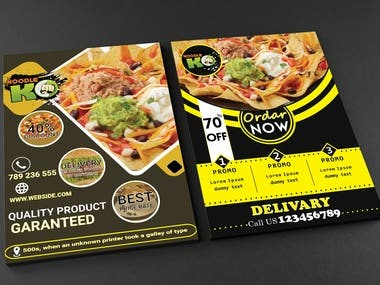 Promotional Food Flyer