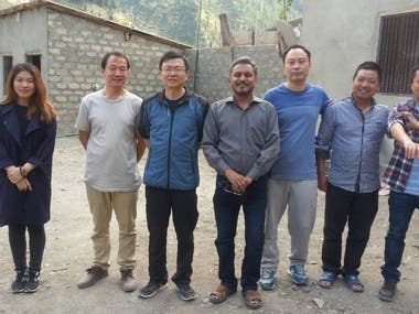 As CFO with Chinese delegation at Kalam Site