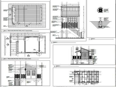 Shop Drawing Hardscape (Tree House)