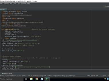 Python Code writing