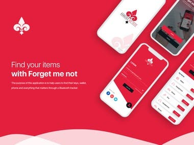 Forget me not app