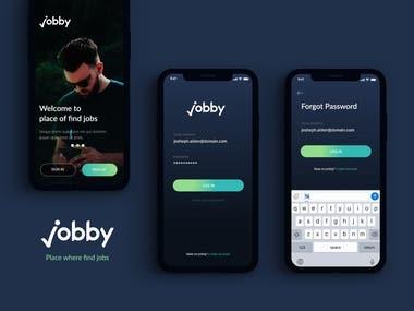 Jobby app design