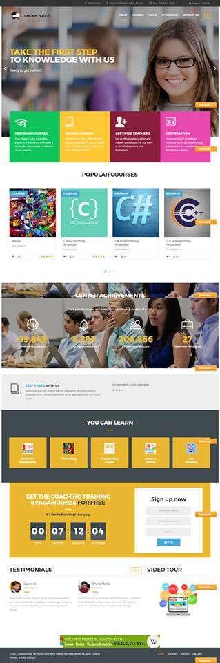 Online Study Website(Wordpress)