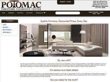 Potomac Furniture Ecommerce Site