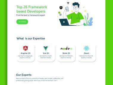 Webdesign for JS focused site