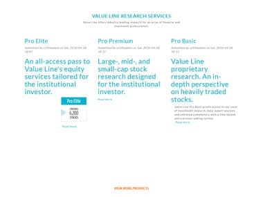 Value Line - Smart Research. Smarter Investing