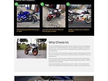 Bike Company - Website Design