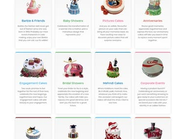 Sam's Cake Bakery Website
